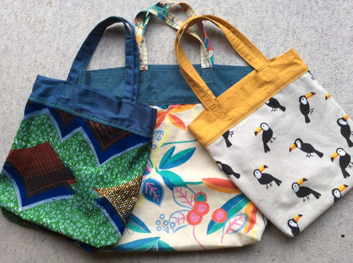 UPCYCLE STYLE: MONSTER TOTE BAG